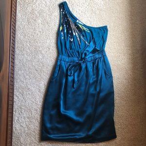 Vintage Teal Blue Cocktail Dress- Size 2